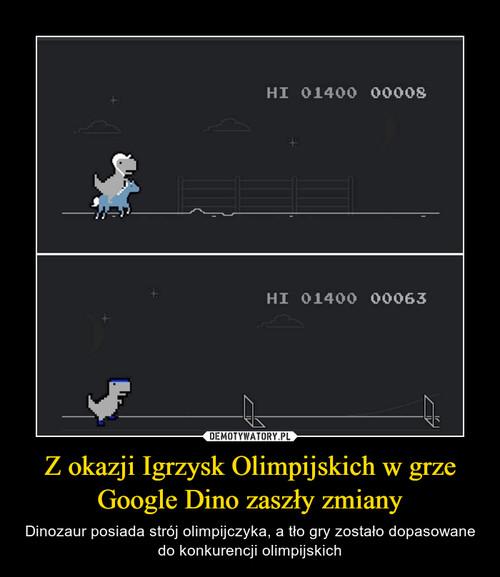 Z okazji Igrzysk Olimpijskich w grze Google Dino zaszły zmiany
