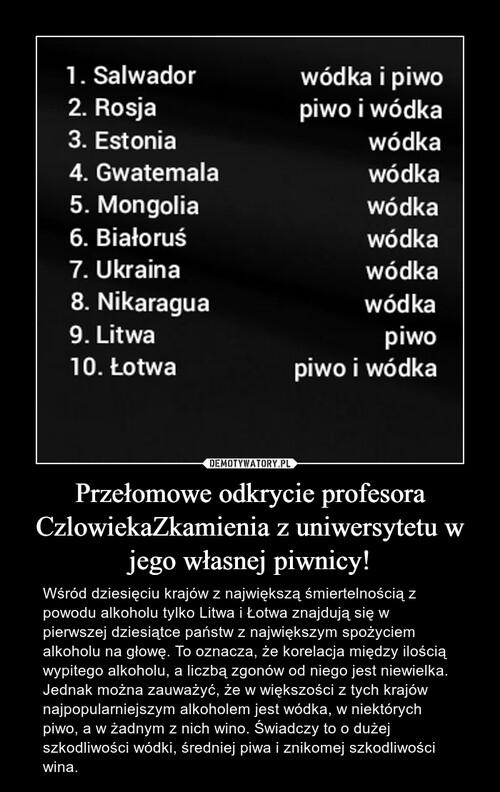 Przełomowe odkrycie profesora CzlowiekaZkamienia z uniwersytetu w jego własnej piwnicy!